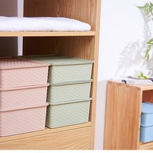 Imitation Rattan Can Stack The Stocking Box With Cover dropshipping