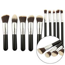 Hot! 10Pcs Premium Synthetic Blend Makeup Brush Set Cosmetic Foundation Beauty Tool