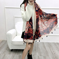 2017 Fashion spring and summer national wind oversized scarf travel shawl dual purpose woman sun protection beach towel