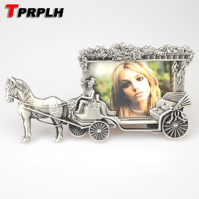 Tprplh Mini Photo Frames Vintage Picture Frames White Horse Carriage