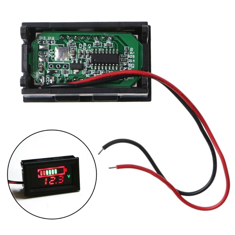 12V Lead-Acid Battery Status Capacity LED Display Indicator Digital Voltmeter Tester