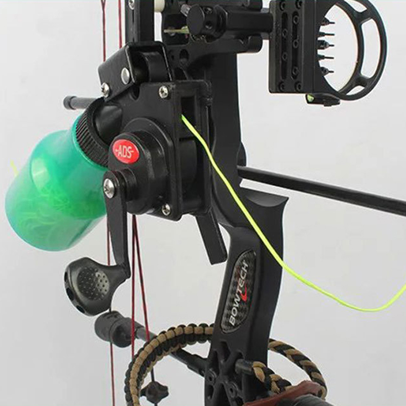 Bow Fishing Spincast Reel for Compound Bow and Recurve Bow Shooting Tool Fish Hunting Bow Fishing for archey equipment ads fish compound retrorsely bow fish line card