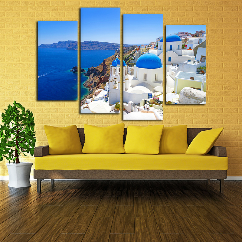 Funky Canvas Wall Art Set Of 4 Embellishment - All About Wallart ...