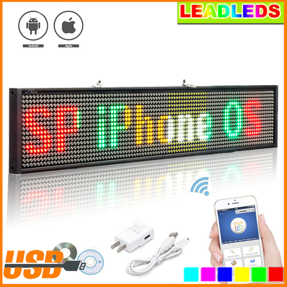 Фото P5 SMD Led Wireless Shop window advertising business open Sign Programmable Scrolling Message Multicolor LED Display Board