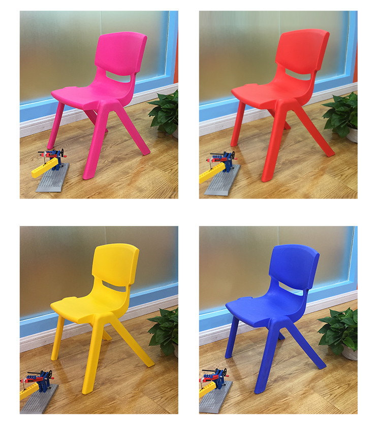 Essential Hold 100KG 24/30CM Sitting Height Eco-friendly PP Kindergarten Chairs Safety Thicken Small Armchair For 1-9 Year Kids