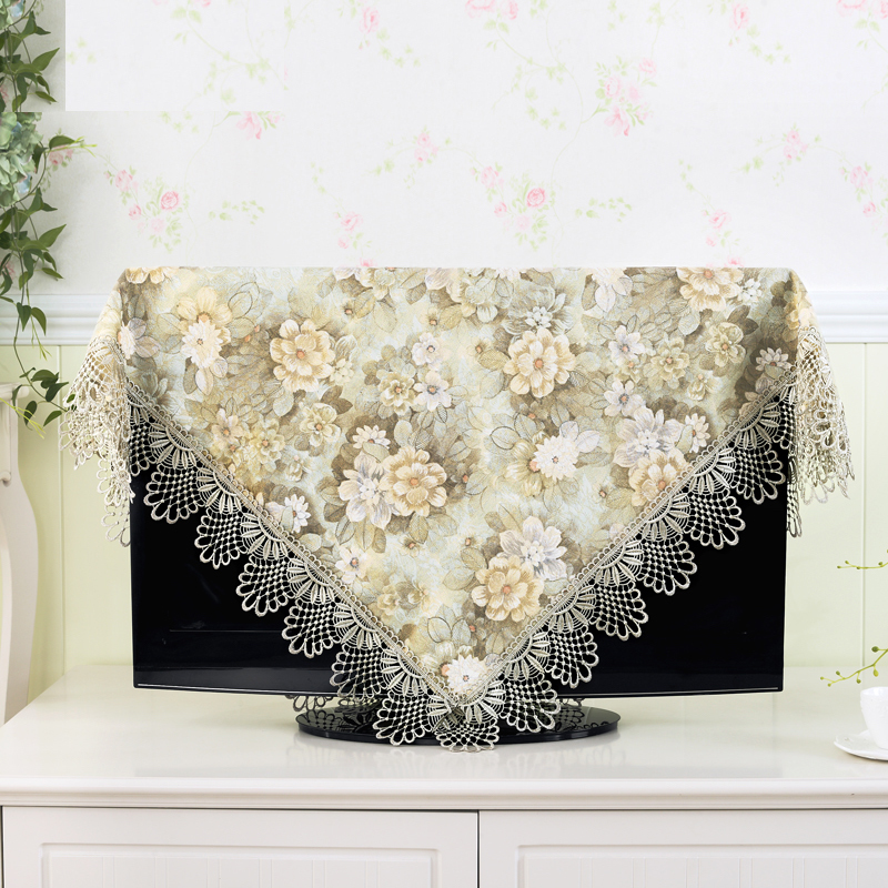 19 - 70 inch TV Cover Decorative Hood Curtain Decor for Flat Screen LCD