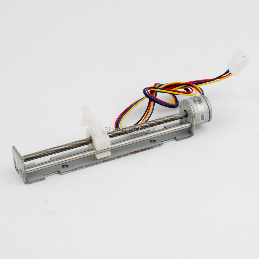 Dc 4-9v 500mA 2 Phase 4 Wire Drive Stepper Motor Screw with Nut Slider Step Angle 18 degree high quality two phase four wire dc stepper motor step angle 1 8 degree with output gear