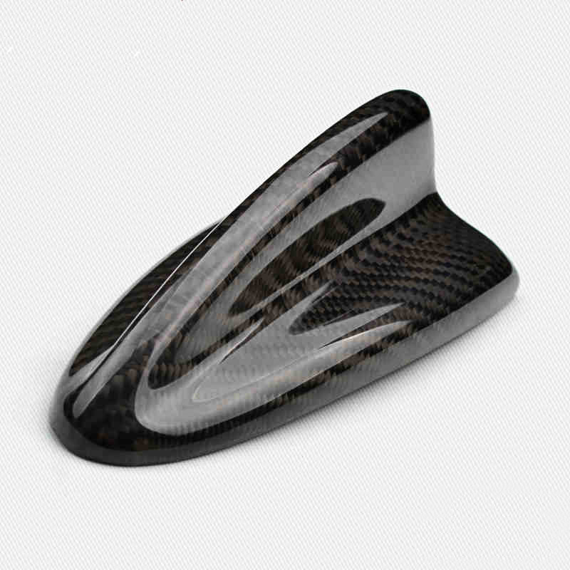 Voiture requin aileron antenne toit requin aérien vraie Fiber de carbone antennes décoratives voiture style