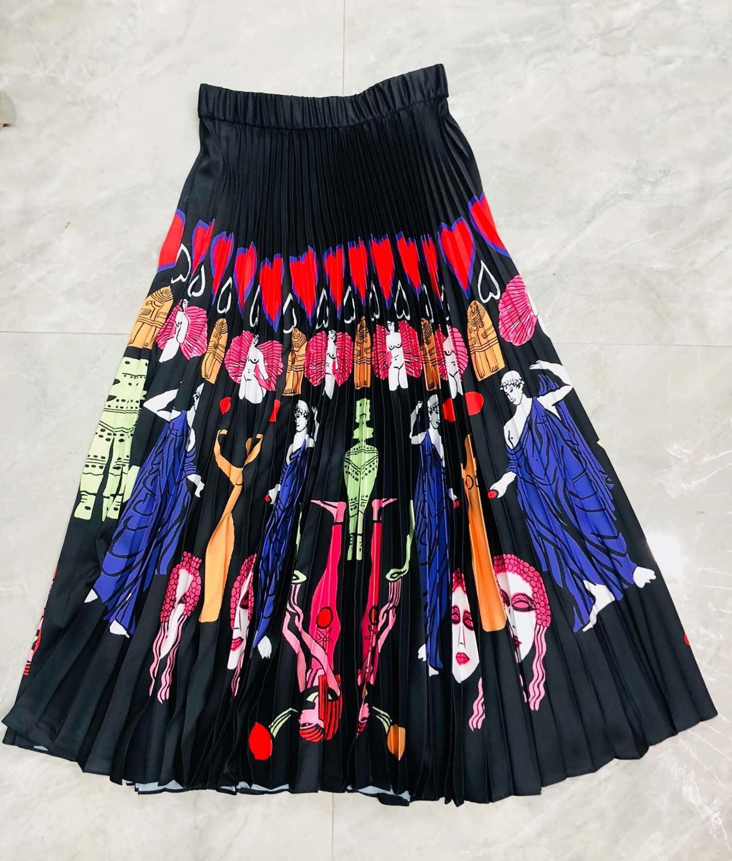 2019 spring fashion skirt women prints pleated skirt rmsx 2 26