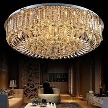 LAIMAIK Cristal Rond LED Plafonnier Pour Salon Lampe Intérieure avec À Distance Contrôlée luminaria accueil décoration FreeShipping