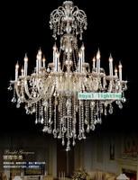 Napoleon Large Crystal Chandelier 24 Lights Cognac Castle Hotel Villa Chandeliers Antique Big Luxury Chandelier Crystal