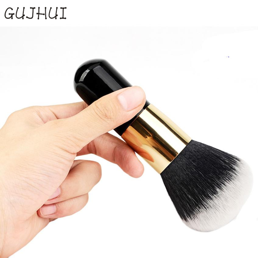 Beauty Girl Hot 1pcs Big Size Powder Brush Cosmetic Beauty Blush Brush for Makeup Soft Facial Finishing Powder Oct 31 12pcs professional soft cosmetic face brush finishing powder blush brush sets for women with red cloth bag