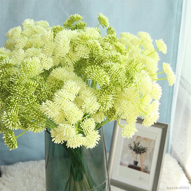 Artificial plastic flower dandelion bouquet home bedroom ...