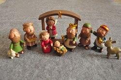 ENNAS Dekoration Mini Set Weihnachten Krippe Fagurines Szene Sets enthält Stabile, Joseph, Jesus, Maria und Wisemen