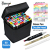 Bianyo 30/40/60/80 Colors Set Artist Dual Head Sketch Copic Markers Set For School Drawing Sketch Marker Pen Design Supplies