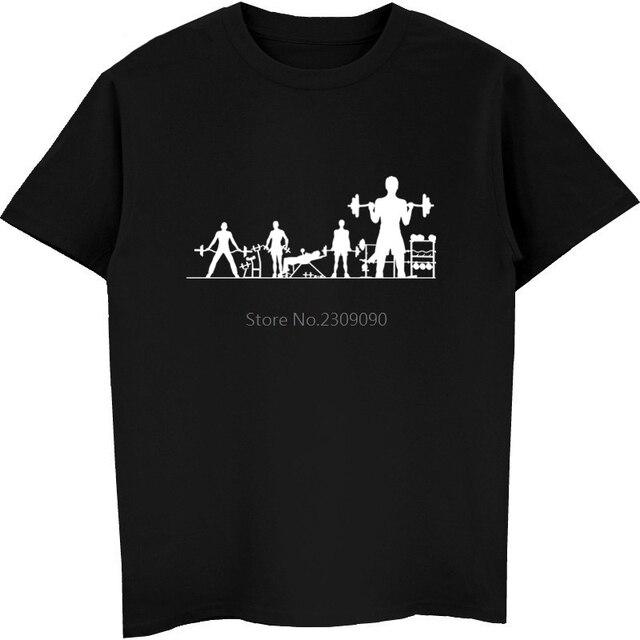 66cdb265d1d01e New Fitness Crossfit Barbell Body-building Print T-shirt Men Cotton Short  Sleeve T Shirt Hip Hop Tees Tops Harajuku Streetwear