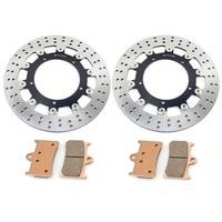 BIKINGBOY 310mm Front Brake Disks Discs Rotors Pads For Yamaha FZ8 2011 2012 2013 11 12 13 XT 1200 Z Tenere 2012 2013 12 13