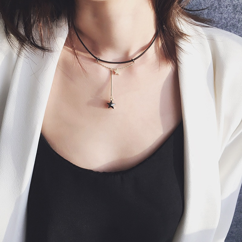2019 new Popular jewelry fashion popular personality simple five pointed star women 39 s pendant necklace wholesale hot in Pendant Necklaces from Jewelry amp Accessories