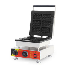 ITOP Professional Electric Waffle Maker Machine ,1500W 6 Square Egg Bubble Cake Oven Baking Iron Machine 110V/220V