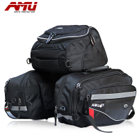 BRAND AMU Motorcycle Saddle Bags Motorbike Rear Edging bag Motocross Helmet Bag Knight Rain Tail Luggage Oxford Bags