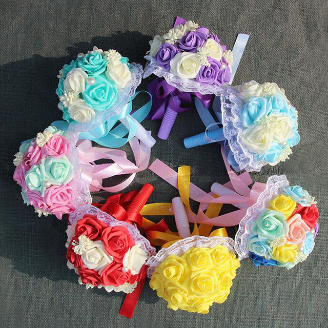2017 New Design Wedding Bouquet 6 Styles Wedding Flowers Bridal ...
