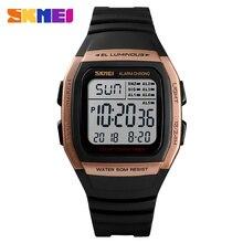 SKMEI модные водостойкие часы Роскошные Лидирующий бренд для мужчин Аналоговый Цифровой спортивные электронные шаги часы Relogio Masculino
