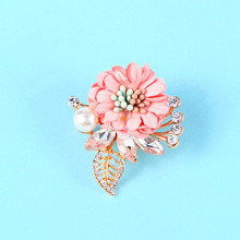 Men Lapel Flower Pin Brooche for Suits Wedding Corsage Pearl Brooches Handmade Jewelry