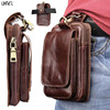 LIHNEL 6 Inch Genuine Leather Outdoor Hiking Climbing Waist Belt Bag For Xiaomi Redmi Note4 4X