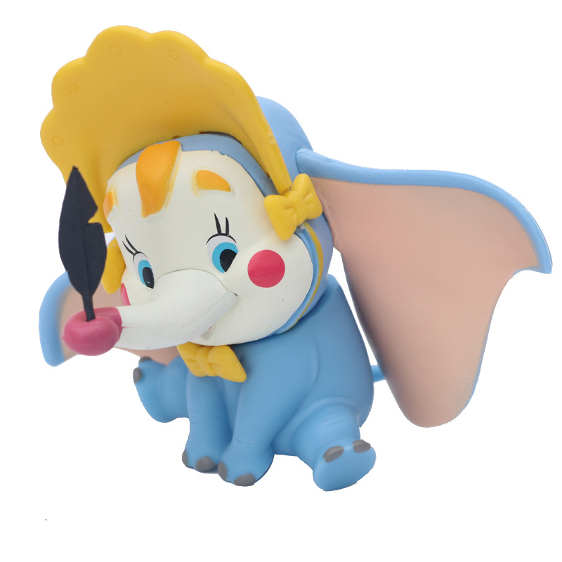 Cute Cartoon Animal Crown Elephant Dumbo Children Doll Action <font><b>Figure</b></font> Toys Decoration New PVC Vinyl Toys <font><b>Figures</b></font> Kids Toys Gifts image
