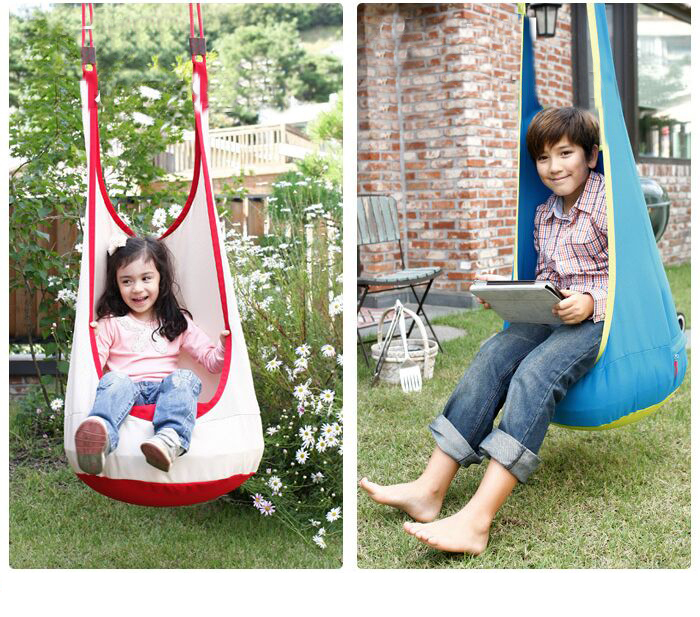 New Baby Hammock Pod Swing Hanging Chair Reading Nook Tent Indoor Outdoor Baby Chair Hammock Kid Baby Swing Relaxing Chair new kids pod swing chair nook hanging seat hammock nest for indoor and outdoor use great for children kids 7 types