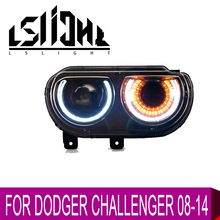 LSlight For CHALLENGER 2008 2009 2010 2011 2012 2013 2014 LED Headlight Assembly Bulbs LAMP Light Stop Brake Turn Signal DRL цена в Москве и Питере
