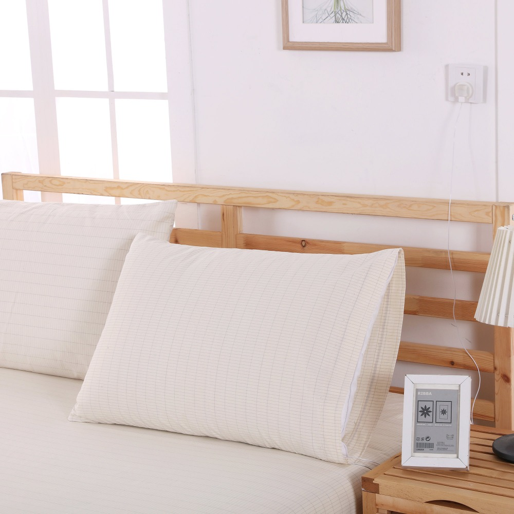 EARTHING Earthing Pillow case 50 75cm conductive pillow case for health EU UK socket for choose