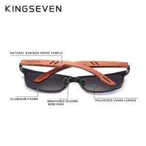 Image 3 - KINGSEVEN Handmade Bubinga Wooden Mens glasses Polarized sunglasses Women Mirror Lens Sun Glasses Driving Eyewear