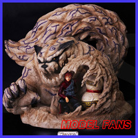MODEL FANS INSTOCK LBS NARUTO Gaara and bijuu Shuukaku GK resin statue for Collection Handicrafts contain led light