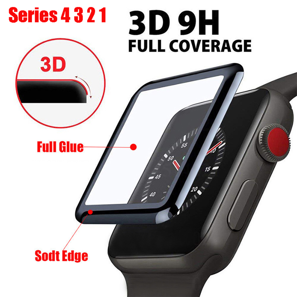 3D Full Cover Tempered Glass For Apple Watch Series 1 2 3 4 5 Protective Screen Protector For IWatch 38 42 40 44 Mm Soft Film