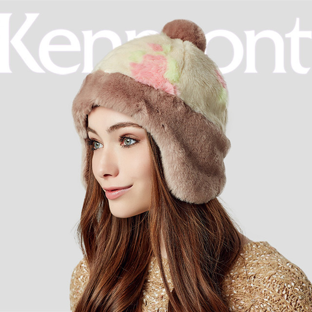 Kenmont Autumn Winter Women Lady Girl Outdoor Skull Cap Warm Earflap Thickening Beanie Hat Free Shipping 2380