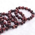 Red Tiger Eye Beads Buddha Bracelets Natural Stone Bracelet Elastic Rope DIY Natural Stone Friendship Bracelets Fashion Jewelry