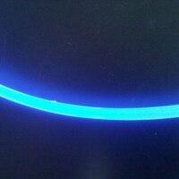 Livraison gratuite 10 M/Lot Interne dia: 10mm, diamètre extérieur: 13mm, Anti-UV fil à fiber optique, étanche côté lueur fiber optique câble