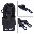 NI5L Walkie talkie bag & Case Holder MSC-20D Nylon Carry Case For Kenwood BaoFeng UV-5R UV-5RA UV-5RB UV-5RC UV-B5 UV-B6 BF-888S