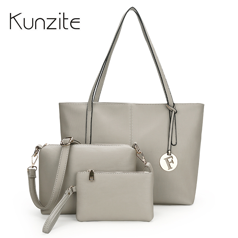3 Pcs/Set Pu Leather Women Bag High Quality Casual Female Handbag Large Capacity Composite Bag Big Women Shoulder Bag Sac A Main 2018 new women bag ladies shoulder bag high quality pu leather ladies handbag large capacity tote big female shopping bag ll491