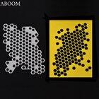 ABOOM Fresh Customized Irregular Hexagon Cutting Dies Metal Embossing Scrapbooking Stencil Cut Die Craft For DIY Invitation Card