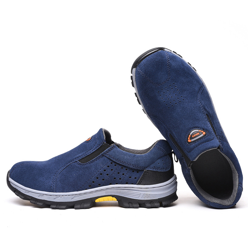 Mens Steel Toe Shoes Work Safety Shoes Breathable Footwear Non-Slip Sneaker Waterproof Casual Shoes for Men Sneakers