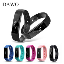 DAWO 115HR Fitness Tracker Heart Rate Monitor Smart Bracelet Sport Alarm Smart Wristband For Android iOS pk Fit Bit xiaomi band2