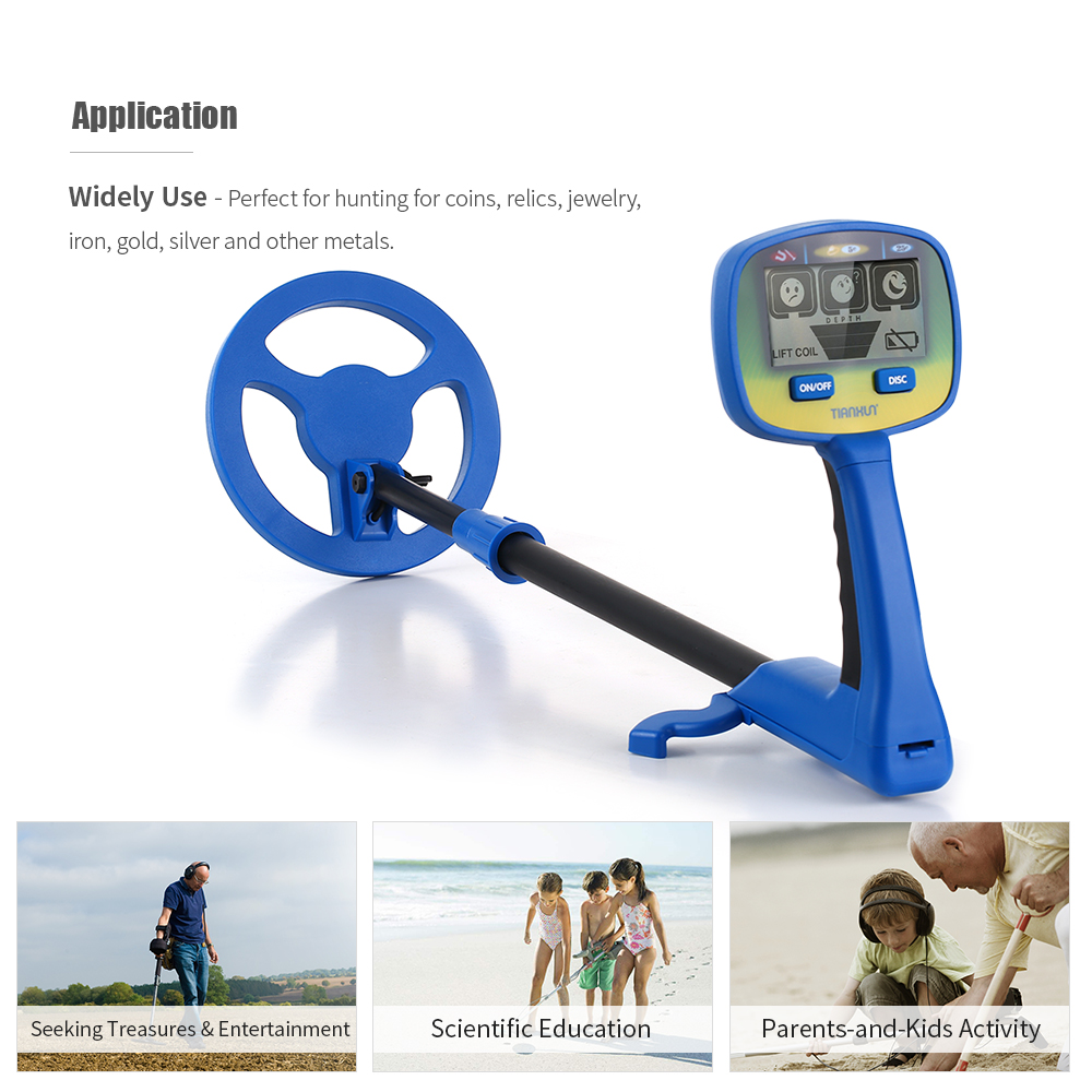 Children Underground Metal Detector Lightweight Gold detector Finder Digger Search Beach Treasure Hunter Seeker for Kids Gift in Industrial Metal Detectors from Tools
