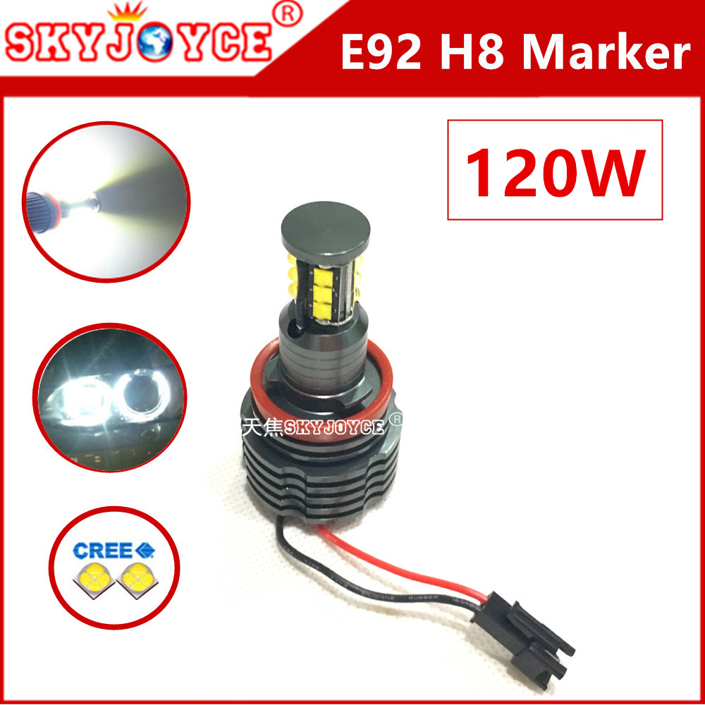 2X 120W led marker E92 led H8 chip Angel Eyes Ring Marker led E92 halo accessories