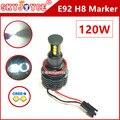2X 120W led marker E92 led H8 Cree chip Angel Eyes Ring Marker led E92 halo accessories car styling Z4 X5 E60 E93 LCI marker led