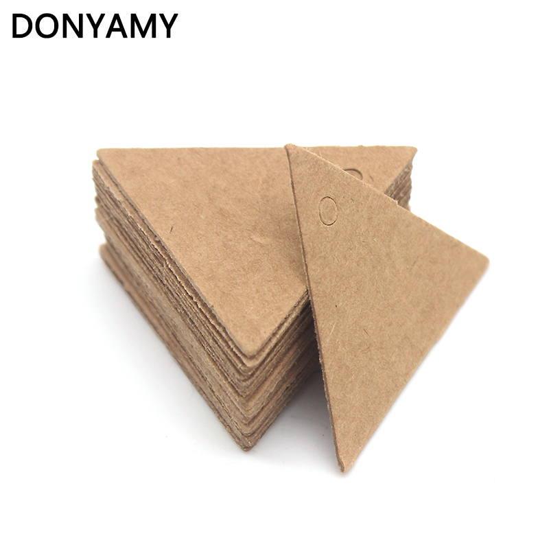 DONYAMY 50PCS 3.5cm Label Paper Tag Gift Hang Card Price Blank Karft Luggage Wedding Party