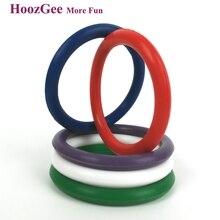 HoozGee Силиконовые Петух Кольца Продукты Секса для Мужчин Пенис Кольца Взрослые Сексуальные Игрушки Фаллоимитатор Секс-Игрушки Радуга Кольцо (5 Шт. 5 Цветов)
