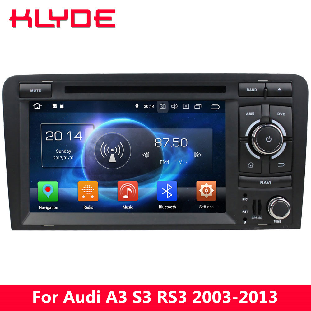 KLYDE 7 4G WIFI Octa Core PX5 Android 8.0 4GB RAM 32GB ROM Car DVD Multimedia Player Radio Stereo For Audi A3 S3 RS3 2003-2013