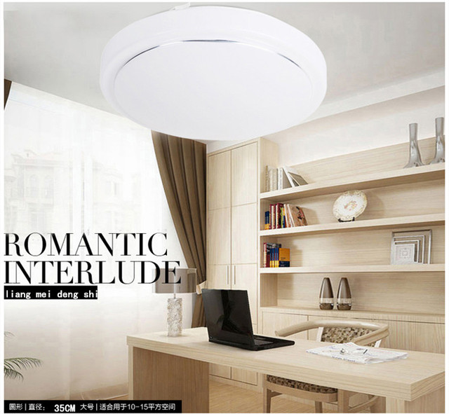 Simple Round LED Silver Led Ceiling Lights Study Energy Saving - Energy efficient kitchen ceiling lighting